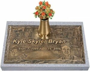 Bronze headstones can be fashioned in a number of styles to suite almost any taste or need