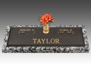 Companion headstones will hold the information to memorialize two individuals